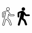 pedestrian icons set vector image vector image