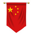 peoples republic china pennant vector image vector image