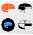 pie chart eps icon with contour version vector image vector image