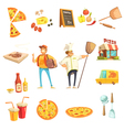 Pizza Making Decorative Icons Set vector image