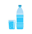 plastic water bottle - drink container - fresh vector image vector image