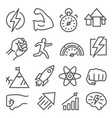 power line icons on white background vector image vector image