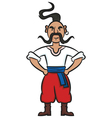 Proud Ukrainian Cossack vector image vector image