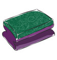 purple and green dishwashing sponge color on vector image