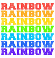 rainbow color words with grunge texture vector image