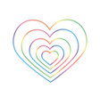 rainbow heart lgbt heart in format equal vector image vector image