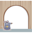 Rat with white blank vector image vector image