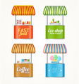 realistic detailed 3d street fast food market vector image vector image