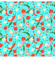 Seamless pattern with food slices design elements vector image vector image