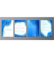 set abstract blue annual report vector image