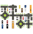 set abstract road junctions crossroads of vector image vector image