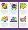 set of internet pages best choice sale labels page vector image vector image