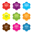 set of sale labels vector image
