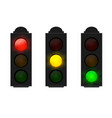 set traffic lights isolated on white vector image