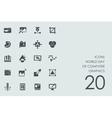 Set World day of computer graphics icons vector image