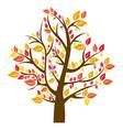 silhouette tree in fall season vector image