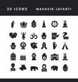Simple icons mahavir jayanti