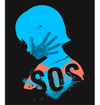 SOS Violence against children vector image