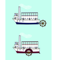 steamship vector image