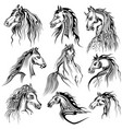 tattoo art design of horse collection vector image vector image