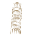 tower pisa vector image