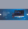 trading platform web page template vector image vector image