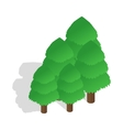 Trees icon in isometric 3d style vector image vector image