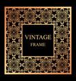 vintage ornamental frame vector image vector image