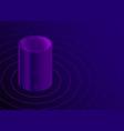 voice assistant smart speaker dark color vector image vector image