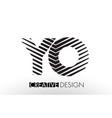 yo y o lines letter design with creative elegant vector image vector image