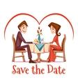 romantic date in vector image