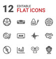 12 record icons vector image vector image