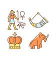 ancestors heritage rgb color icons set vector image