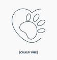 animal cruelty free logo