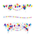 balloons and flags set vector image