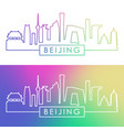 beijing skyline colorful linear style vector image vector image
