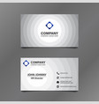 black and white circle business card vector image vector image