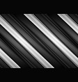 black and white glossy stripes abstract tech vector image vector image