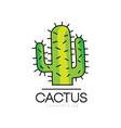 cactus logo design desert prickly plant green vector image vector image