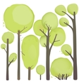 Cartoon Watercolor Trees Set vector image vector image