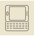 Cell phone icon Thin line vector image vector image