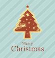 christmas tree retro style vector image