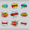 comic speech bubbles cartoon explosions text vector image