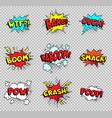 comic speech bubbles cartoon explosions text vector image vector image