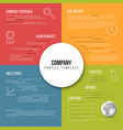 company infographic overview design template vector image vector image
