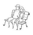 couple on chair vector image vector image