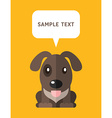 Cute Dog In Flat Design Style With Speach Bubble vector image vector image