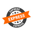 express sign express orange-black round ribbon vector image vector image