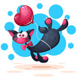 funny cute pretty cat characters vector image vector image