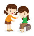 Girl Comforting Her Crying Friend vector image vector image